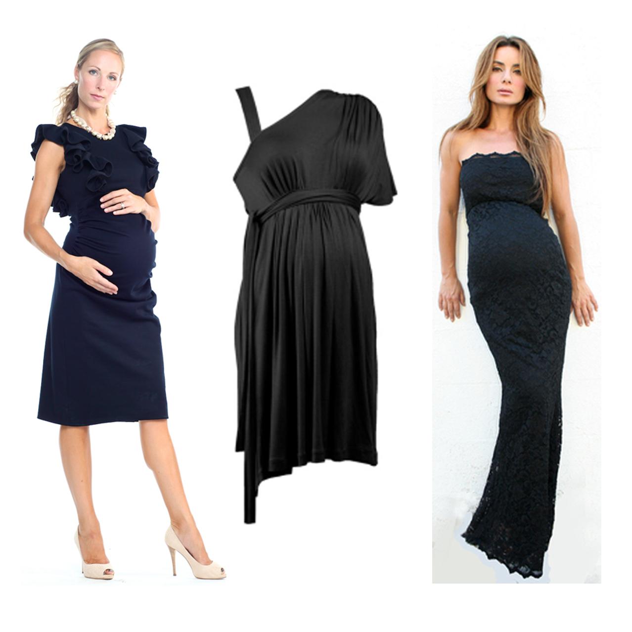 Little Black Maternity Dresses
