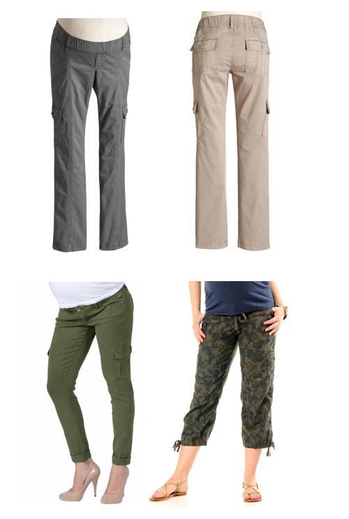 maternity cargo pants –
